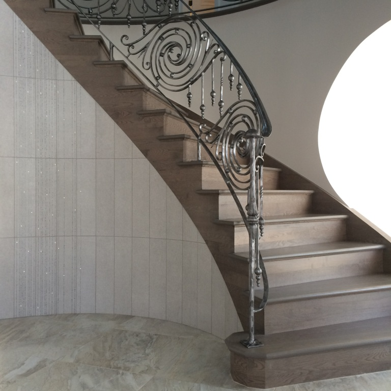 Time laps curved stairway railing [SOLD 12,500$]